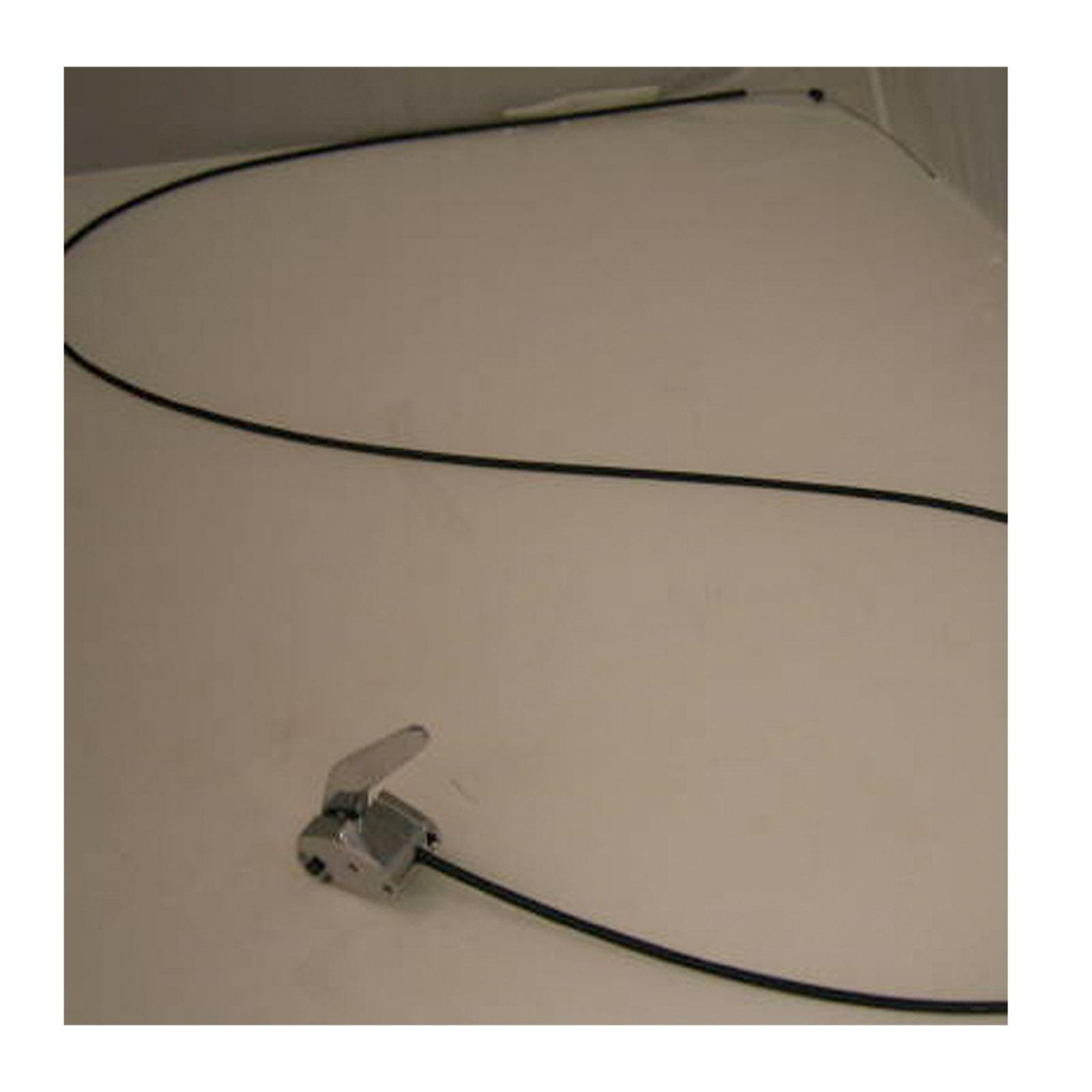 Flexible Cable Latch System : Trunk hood latch release lever w cable fuel door hotrod